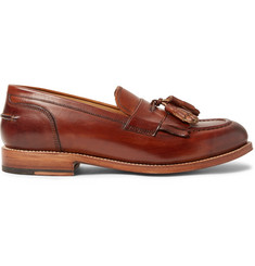 Grenson Mackenzie Burnished-Leather Tasselled Kiltie Loafers