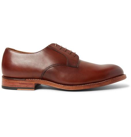 Lennie Polished-leather Derby Shoes - BlackGrenson UHaRVuKLe