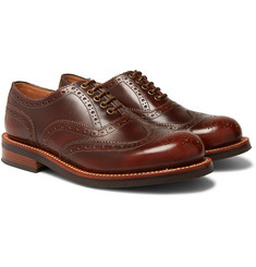 Grenson - Dominic Burnished-Leather Wingtip Brogues