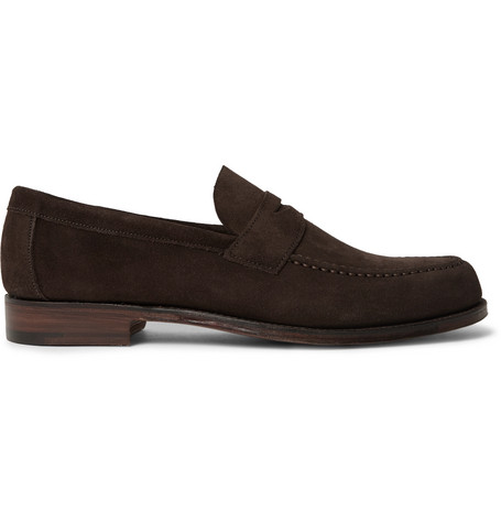 Hugo Suede Penny Loafers - BrownCheaney