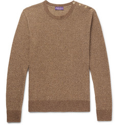 Ralph Lauren Purple Label - Slim-Fit Waffle-Knit Silk Sweater