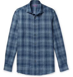 Ralph Lauren Purple Label - Checked Linen Shirt