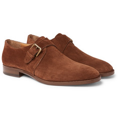 Ralph Lauren Purple Label - Suede Monk-Strap Shoes
