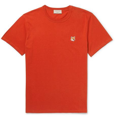 Maison KitsunÉ Cotton-jersey T-shirt In Red