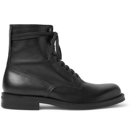 561b4c05e610 Dries Van Noten Leather Boots - Black