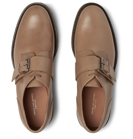 Leather Monk Strap Brogues by Dries Van Noten