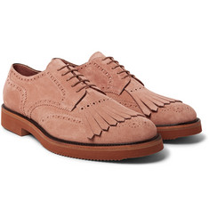 Dries Van Noten - Suede Kiltie Wingtip Brogues