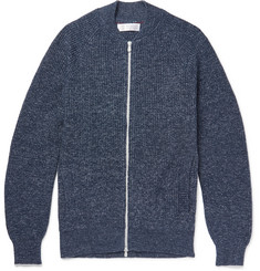 Brunello Cucinelli - Slim-Fit Mélange Cotton Zip-Up Cardigan