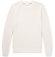 Brunello Cucinelli Slim-Fit Ribbed Cotton Sweater