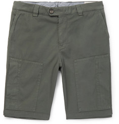 Brunello Cucinelli - Stretch-Cotton Twill Shorts