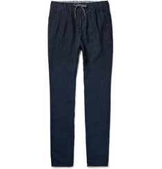 Brunello Cucinelli Linen Drawstring Trousers