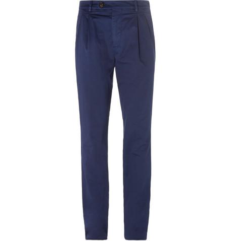 Slim-fit Herringbone Stretch-cotton Trousers Brunello Cucinelli Discount Footlocker lQs3b