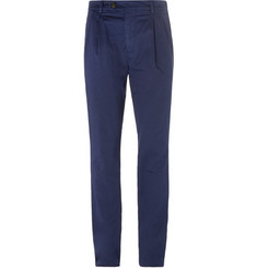 Brunello Cucinelli Slim-Fit Herringbone Stretch-Cotton Trousers