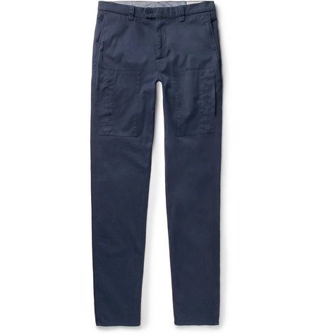 Footlocker For Sale Outlet Extremely Slim-fit Cotton-twill Trousers Brunello Cucinelli dugJjd