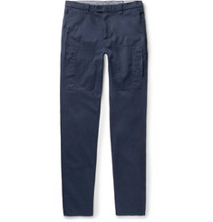 Brunello Cucinelli - Slim-Fit Garment-Dyed Stretch-Cotton Twill Trousers