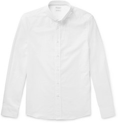 Brunello Cucinelli Button-Down Collar Woven Cotton Shirt