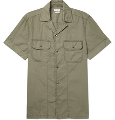 Brunello Cucinelli Slim-Fit Camp-Collar Garment-Dyed Cotton Shirt