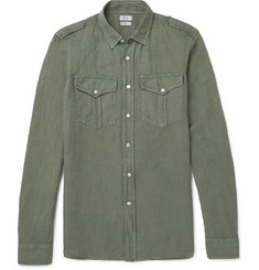 Brunello Cucinelli Linen and Cotton-Blend Shirt