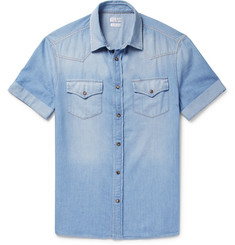 Brunello Cucinelli Cotton-Chambray Western Shirt
