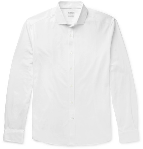 Cotton-jersey Shirt - White