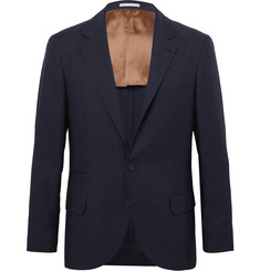 Brunello Cucinelli Navy Feather Weight Cashmere-Twill Unstructured Blazer