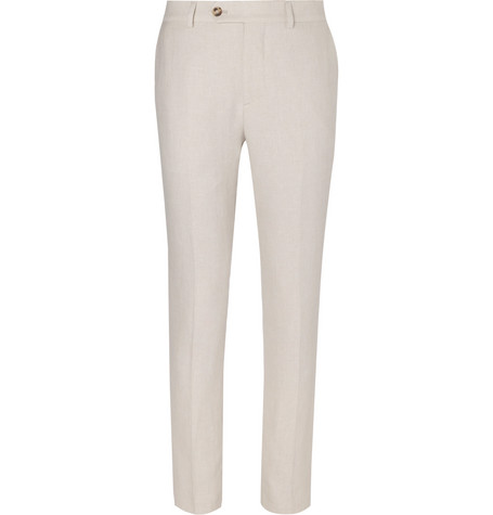 Linen trousers Traditional Fit beige Brunello Cucinelli cwBK5