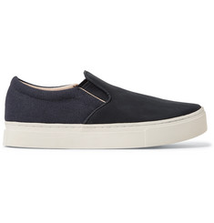 Saturdays NYC Vass Nubuck and Canvas Slip-On Sneakers