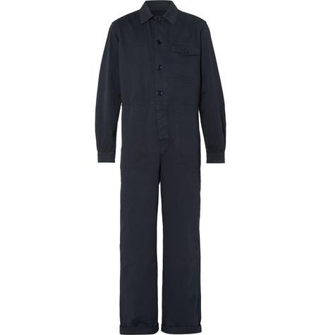 Dries Van Noten Cotton-twill Boilersuit In Navy