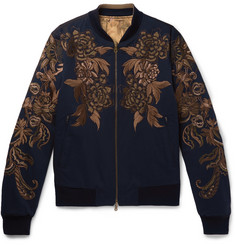 Dries Van Noten Reversible Embroidered Cotton-Twill Bomber Jacket