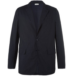 Dries Van Noten Navy Unstructured Cotton Blazer