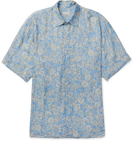 vincent-striped-mélange-cotton-jersey-t-shirt by jcrew