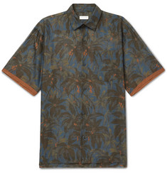 Dries Van Noten - Cohen Oversized Contrast-Tipped Printed Cotton Shirt