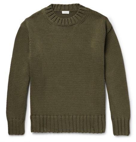 Cotton Blend Sweater by Dries Van Noten