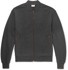 Dries Van Noten Mesh-Panelled Loopback Cotton-Jersey Bomber Jacket
