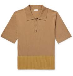 Dries Van Noten Contrast-Trimmed Cotton and Merino Wool-Blend Polo Shirt