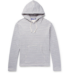 Junya Watanabe Striped Loopback Cotton-Jersey Hoodie