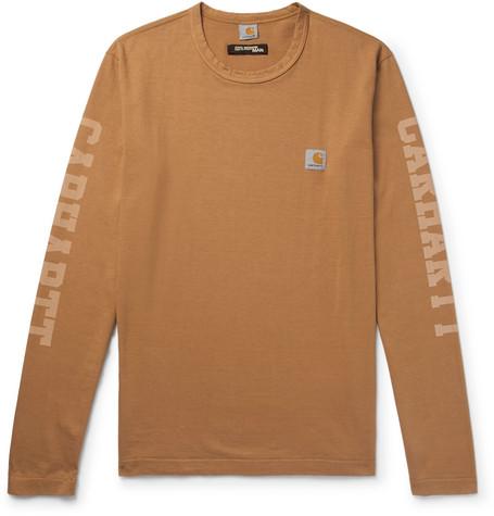 + Carhartt Printed Cotton Jersey T Shirt by Junya Watanabe