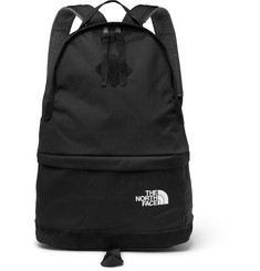 Junya Watanabe + The North Face Suede-Panelled Canvas Backpack