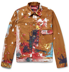 Junya Watanabe + Levi's Slim-Fit Paint-Splattered Cotton-Canvas Trucker Jacket
