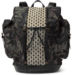 Dries Van Noten - Leather-Trimmed Printed Canvas Backpack