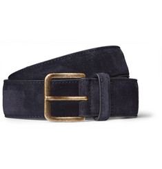 Dries Van Noten 3.5cm Midnight-Blue Suede Belt
