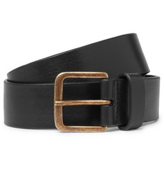 Dries Van Noten 3.5cm Black Leather Belt
