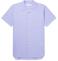 Comme des Garçons SHIRT Camp-Collar Polka-Dot Cotton-Seersucker Shirt