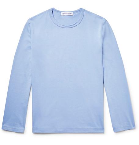 Comme Des GarÇOns Shirt Cotton-Jersey T-Shirt In Light Blue
