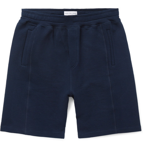 Idler Wide-leg Ribbed Cotton Shorts Hamilton & Hare N9ooPX3
