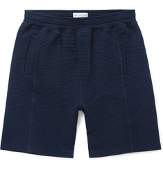 Hamilton and Hare Idler Wide-Leg Ribbed Cotton Shorts
