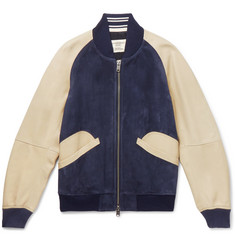 Kent & Curwen - Suede and Leather Bomber Jacket