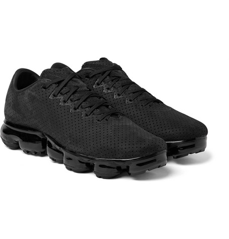 1e472641970f6 Nike Air Vapormax Ltr Perforated Suede Sneakers In Black