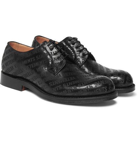 + Church's Logo Embossed Leather Derby Shoes by Vetements
