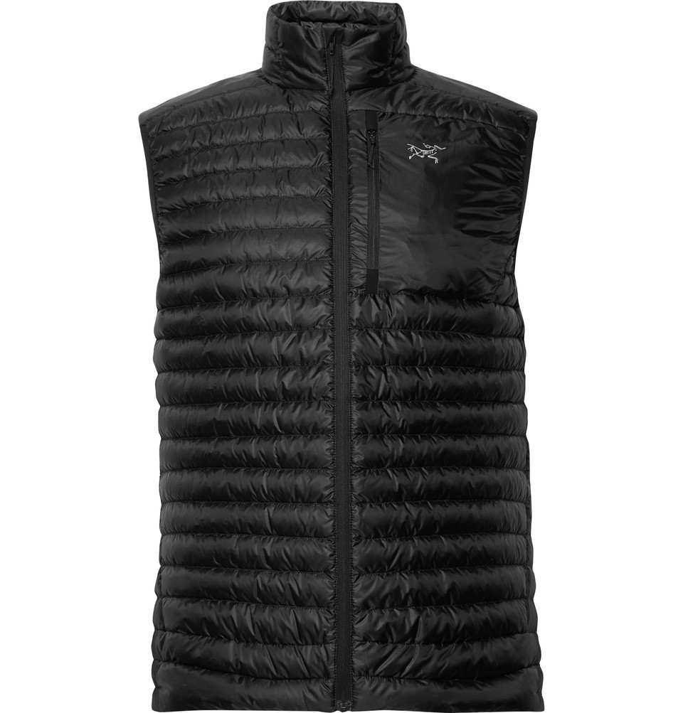 Cerium Sl Quilted Shell Down Gilet - Black